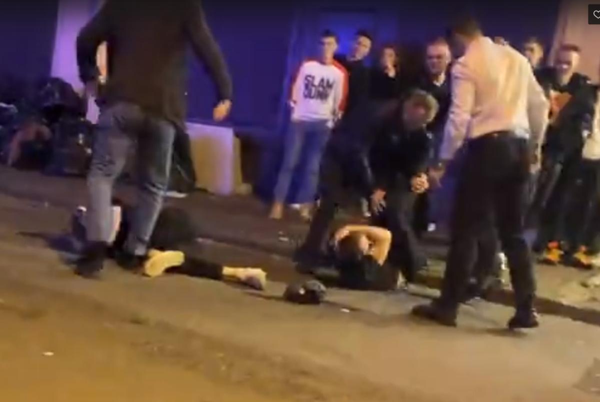 Ночная драка на Думской попала в соцсети (видео)
